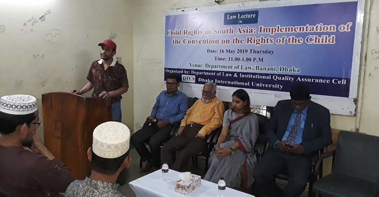 DIU Holds Law Lecture on Child Rights in South Asia